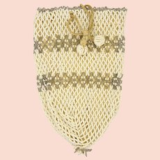 Czech Beaded Purse with Drawstring - Early 20th Century