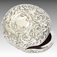 English Victorian 1893 Sterling Silver Coin Purse