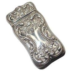 Victorian Sterling Silver Vesta or Match Safe