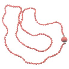 Victorian Coral Necklace with 9K clasp