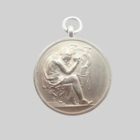 Art Deco English Silver Besson Award of  Honour Medal