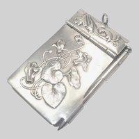 French Art Nouveau Silver Plate Aide Mémoire or Dance Card
