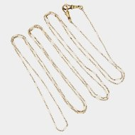 """Victorian 9K Gold Elongated Links Guard Chain - 63"""" - 14.9 grams"""