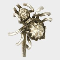 Victorian Sterling Silver Spider Stick Pin