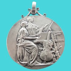 French 1906 Silver Music Medal - A RIVET