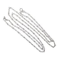"French Antique Silver Guard Chain - 56"" - 27.2 grams"