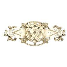 English Edwardian Sterling Silver 1906 Sweetheart Pin