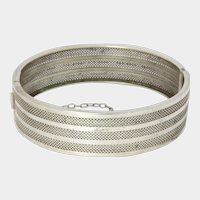 French Antique Silver Bangle/Bracelet