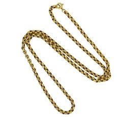 """Victorian 9K Gold Belcher Chain - 20"""" -9.4 grams"""