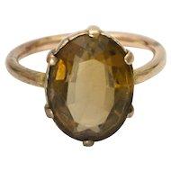 9K Rose Gold Smoky Quartz Ring