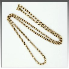 "English Victorian 9K Gold  Faceted Chain - 19"" - 5.3 grams"