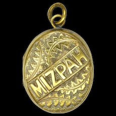 Victorian 'MIZPAH' Gilt Brass Locket