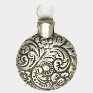 Victorian Silver Engraved Miniature Perfume Flask