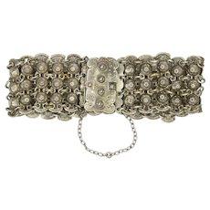Victorian European 800 Silver Fluid Bracelet