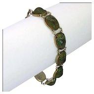 Victorian Egyptial Revival Scarab Beetle Bracelet