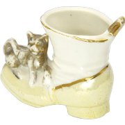 VIctorian China Fairing Boot and Cat