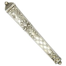 French Antique Silver Needle Case