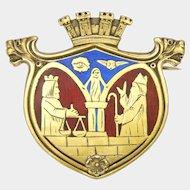 DAVID-ANDERSEN - Norway - Silver Enamel Historical Pin