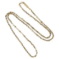 "Victorian 9K Gold Decorative Chain - 19½"" - 5.2 grams"