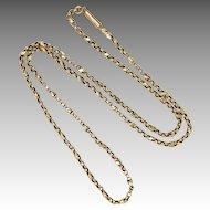 "Victorian 9K Gold Decorative Chain - 19½"" - 5.2 grams"