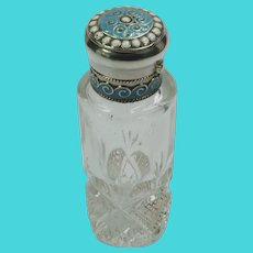 David-Andersen -Norway - Silver Enamel Perfume Bottle Flask - Old Mark