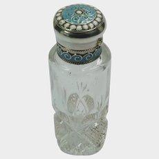 David-Andersen -Norway - Silver Enamel Perfume Bottle Flask - Old Mark