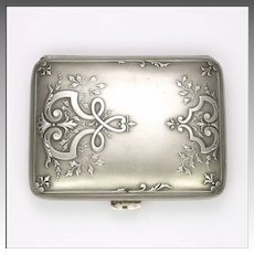 Antique French Silver Card Case - CHARLES MURAT