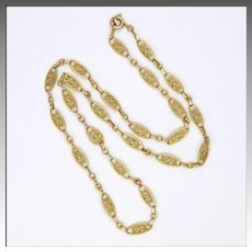 French Circa 1900-1910 18K Gold Filled Necklace - FIX