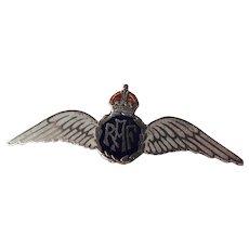English RAF World War 11 Silver Enamel Sweetheart Pin