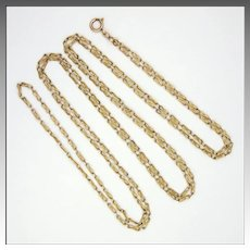 French Circa 1900 Gold Filled Guard Chain - ORIA
