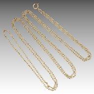 French Circa 1900 Gold Filled Guard Chain - ORIA