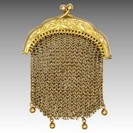 French Art Nouveau 'Pomponne' Chain Mail Purse