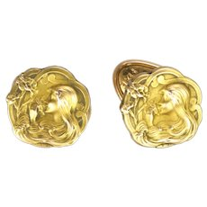 French Art Nouveau Gold Filled 'FIX' Shirt Studs - DROPSY