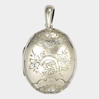 Victorian 1889 Sterling Silver Locket