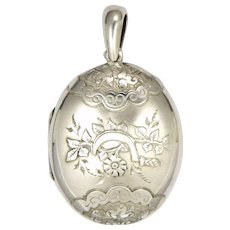 Antique fine jewelry victorian pendants suzy lemay ruby lane victorian 1889 sterling silver locket aloadofball