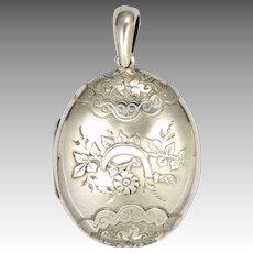 Victorian 1889 Sterling Silver Locket