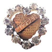 Victorian Heart Shaped MIZPAH Pin