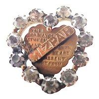 Victorian Heart Shaped MIZPAH Pin