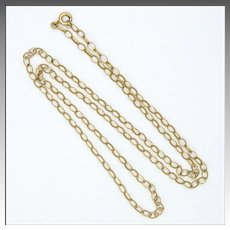 "9K Gold Open Link Chain Necklace  - 20"" -2.4 grams"