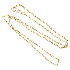 "9K Gold Fancy Link Chain - 18""- 2.7 grams"