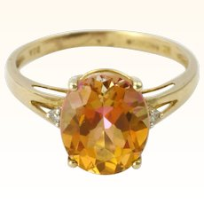 9K Gold and Topaz Ring