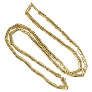"Italian 14K Gold Fancy Chain Necklace - 20"" -18.3 grams"