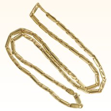 """Italian 14K Gold Fancy Chain Necklace - 20"""" -18.3 grams"""