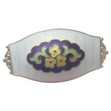 MARIUS HAMMER - Norway 930 Silver Enamel Flower Pin