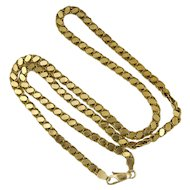 "Italian 14K Gold Chain Necklace - 18"" -11.8 grams"