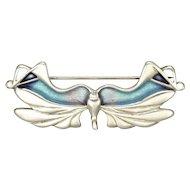 PAT CHENEY - Scotland 1981 - Silver Enamel Butterfly Pin