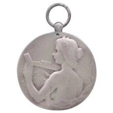 French Silver St Cecelia Medal/Pendant- RASUMNY