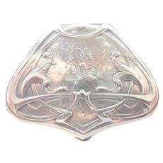 Art Nouveau Silver Pill or Trinket Box