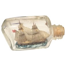 English Vintage Ship in Bottle