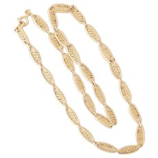 French Gold Filled Scrolling Necklace -MURAT